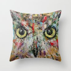 Mystic Owl Throw Pillow