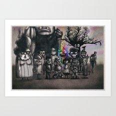 Ms. Nebun's Academic Spook Class Photo Art Print