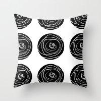 Swirly Dot Pattern Throw Pillow