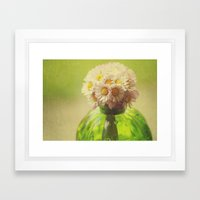 Flowers In The Window Framed Art Print