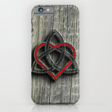 Celtic Knotwork Valentine Heart Wood Texture iPhone 6 Slim Case