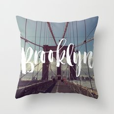 Brooklyn Bridge Photogra… Throw Pillow