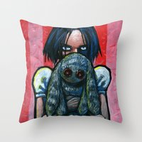 A little hug Throw Pillow