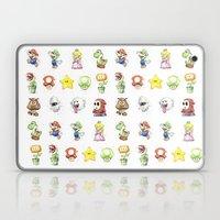 Mario Characters Watercolor  Laptop & iPad Skin
