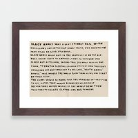 The Myth Of Black Annis  Framed Art Print