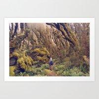 Glitch Wanderer Art Print