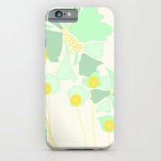 Minty Flowers iPhone 6 Slim Case