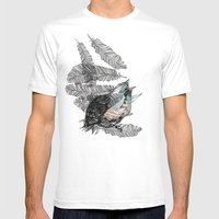 Birdster Mens Fitted Tee White SMALL