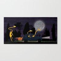 Voyage By Night II (anim… Canvas Print