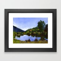 Reflections On The Pond Framed Art Print