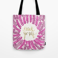 Treat Yo Self – Pink & Gold Tote Bag