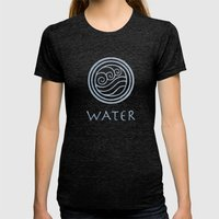 Avatar Last Airbender - … Womens Fitted Tee Tri-Black SMALL