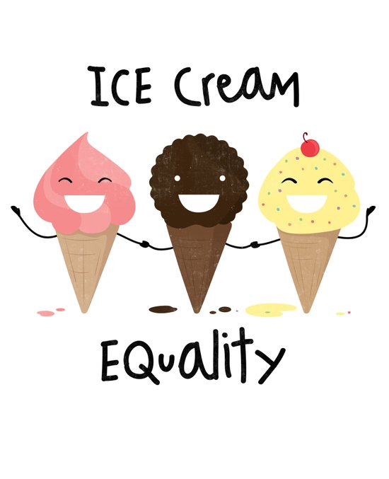 Ice cream Equality (reloaded) Art Print