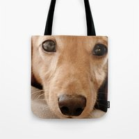 Puppy-Dog Eyes Tote Bag