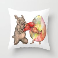 Easter Knockout  Throw Pillow