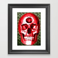 Third Eye Bones (Paisley Edition) Framed Art Print