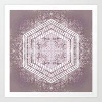Hexagon Forrest Art Print