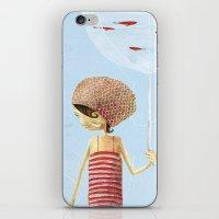 FISH IN UMBRELLA - triptych image 2 iPhone & iPod Skin