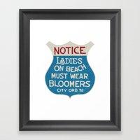 Bloomers Framed Art Print
