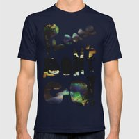 Please Don't Go! Mens Fitted Tee Navy SMALL