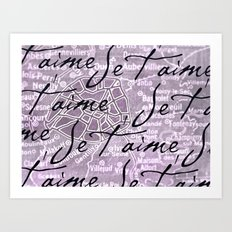 Je t'aime, Paris! Art Print