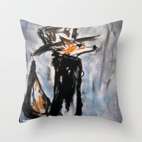 Dandy Fox Throw Pillow