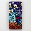 You Cant Hide Beautiful - Lively floral by Labor of Love artist Sharon Cummings. iPhone & iPod Skin