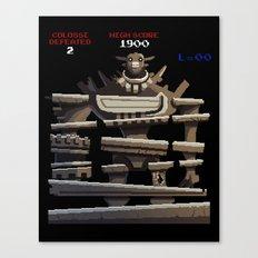 Donkey Colossus Canvas Print