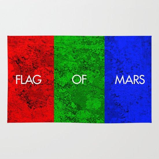 THE FLAG OF MARS Area & Throw Rug