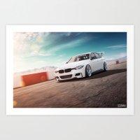 BMW On The Track Art Print