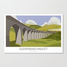 Glenfinnan Viaduct Railway Poster Canvas Print