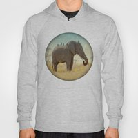 along for the ride _ an elephant and his feathered friends Hoody