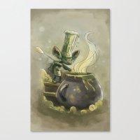 Goblins Drool, Fairies Rule! - Earwax Stew Canvas Print