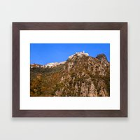 French mountain village 5358 Framed Art Print