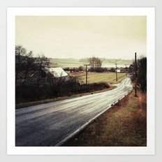 I Took The Road Less Travelled Art Print