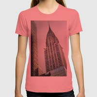 Chrysler Womens Fitted Tee Pomegranate SMALL
