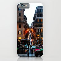 iPhone & iPod Case featuring Rain in Rome in Colour by Amy Taylor