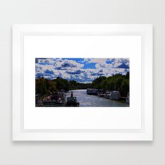 living on the canal Framed Art Print