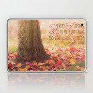 Autumn Leaves Poem Laptop & iPad Skin