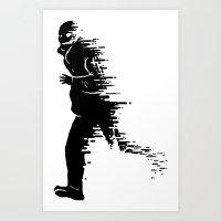 Race against time Art Print