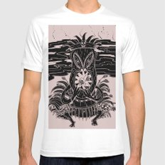 Tiki lunch White SMALL Mens Fitted Tee