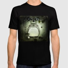 Totoro in the rain Mens Fitted Tee SMALL Black