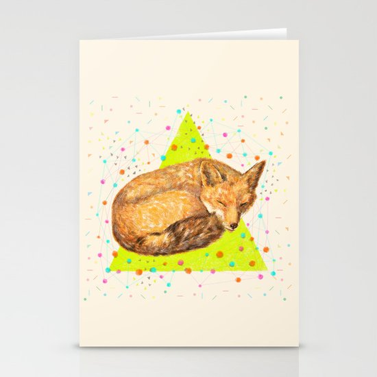 Fox Dream Stationery Card