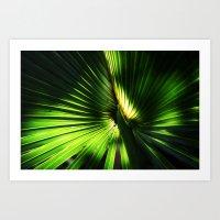 The green glow  Art Print