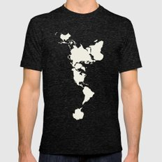 Dymaxion Map Mens Fitted Tee Tri-Black SMALL