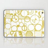 Golden Doodle Circles Laptop & iPad Skin