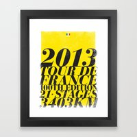 2013 Tour de France: Maillot Jaune Framed Art Print