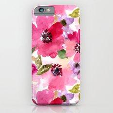 Watercolor Flowers iPhone 6s Slim Case