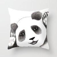 Panda Close Up Throw Pillow