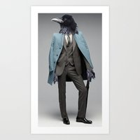 dapper crow Art Print